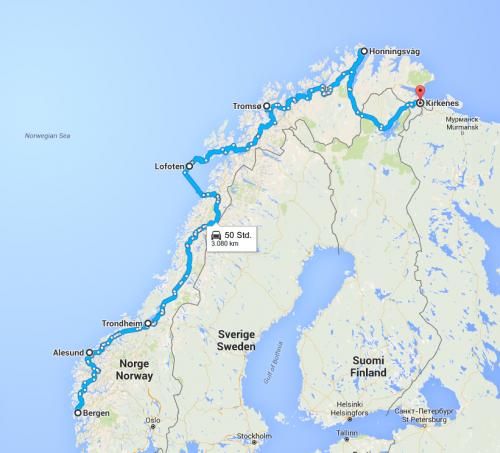 reiseroute.norwegen